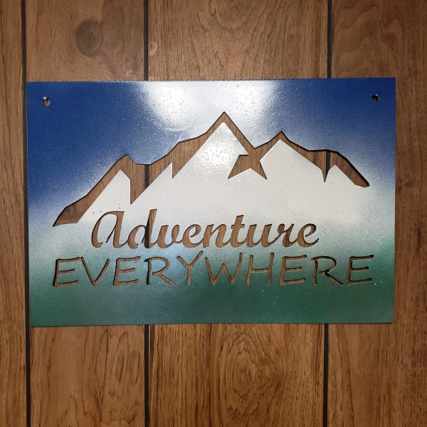 Adventure Everywhere - Metal Home Decor