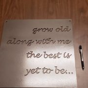 Grow Old - Metal Home Decor
