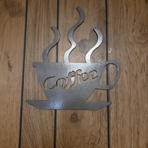 Coffee Cup - Metal Home Decor